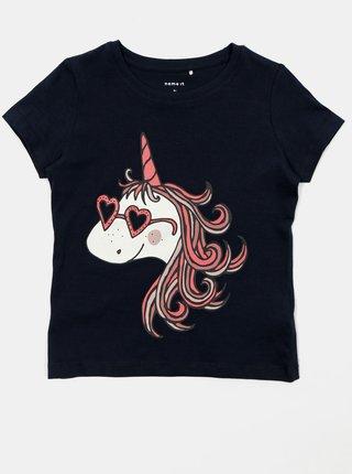 Sada dvoch dievčenských tričiek v modrej a ružovej farbe name it Brigitta