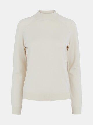 Krémový sveter so stojáčikom Pieces Esera