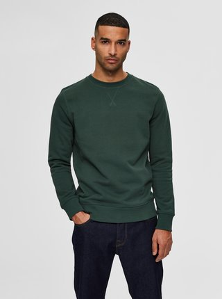 Tmavě zelená basic mikina Selected Homme Jason