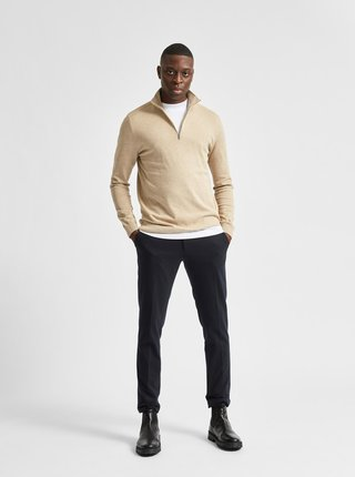 Béžový svetr Selected Homme Berg