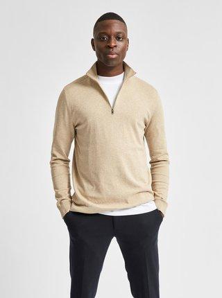 Béžový sveter Selected Homme Berg