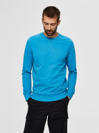 Modrá basic mikina Selected Homme Jason