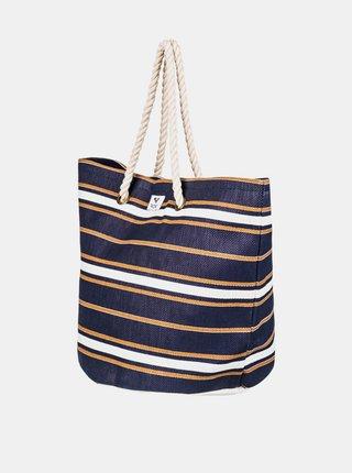 Roxy SUNSEEKER MEDIEVAL BLUE MACY STRIPE plážová taška - modrá