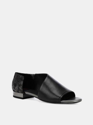Čierne dámske kožené sandále Geox