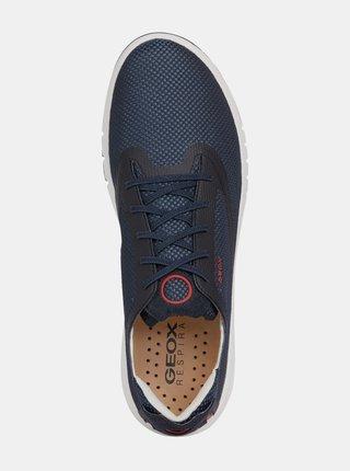 Tmavě modré pánské tenisky s koženými detaily Geox Aerantis
