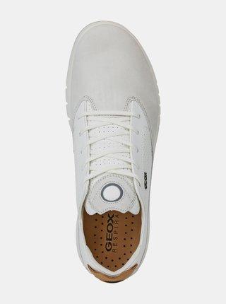 Bílé pánské tenisky s koženými detaily Geox Aerantis
