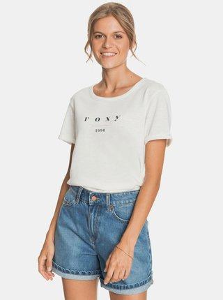 Biele tričko s potlačou Roxy