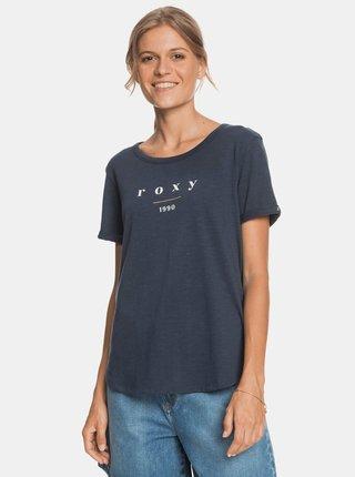 Tmavě modré tričko s potiskem Roxy