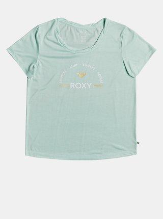 Mentolové tričko s potiskem Roxy