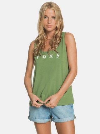 Zelené tílko s potiskem Roxy