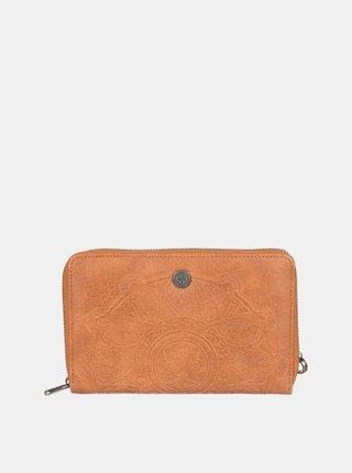 Hnedá vzorovaná peňaženka Roxy