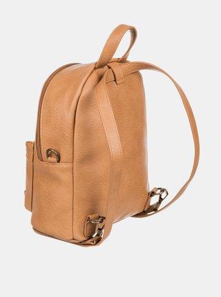 Hnědý koženkový batoh Roxy