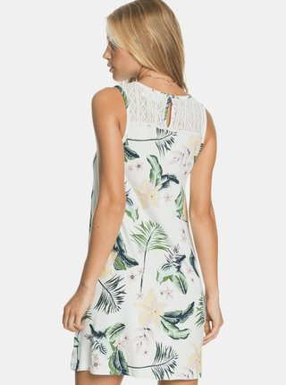 Biele kvetované šaty Roxy
