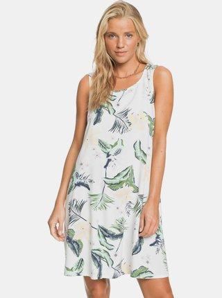 Bílé květované šaty Roxy