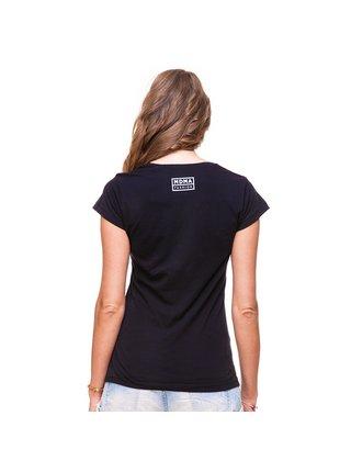 Černé tričko s potiskem I Can't See