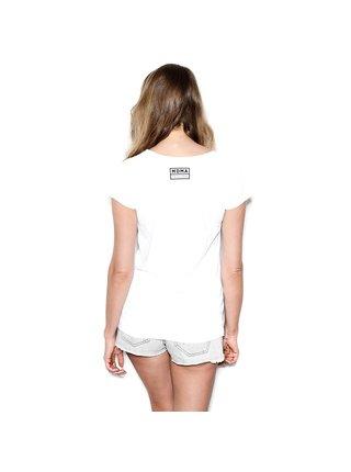 Bílé tričko s potiskem I Can't See