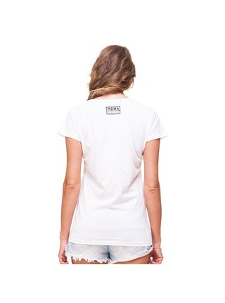 Bílé tričko s potiskem My Dirty Mum's Ass