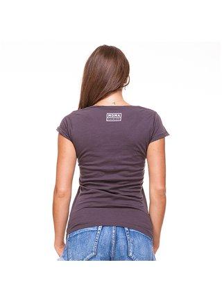 Tmavě šedé tričko s potiskem Detox