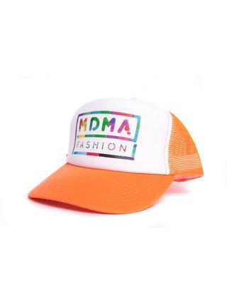 Oranžová kšiltovka s potiskem MDMA FASHION