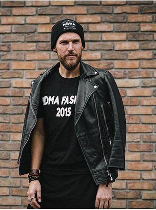 Černé tričko s 3D potiskem MDMA FASHION 2015