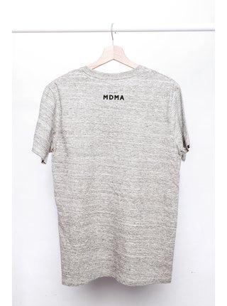 Šedé tričko s potiskem EAT SLEEP MDMA REPEAT