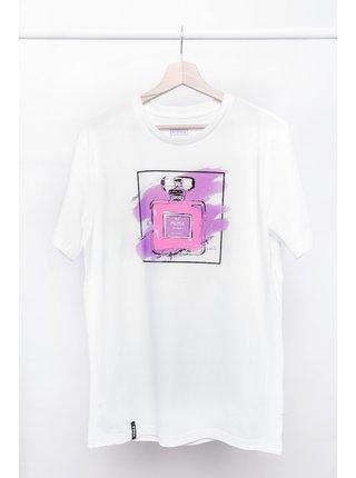 Bílé tričko s potiskem Chanel