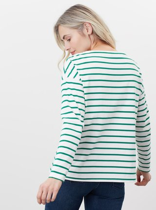 Zeleno-biele dámske pruhované tričko Tom Joule