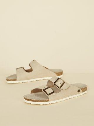 Béžové pánské pantofle OJJU