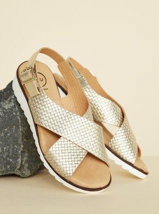 Kožené sandálky v zlatej farbe OJJU