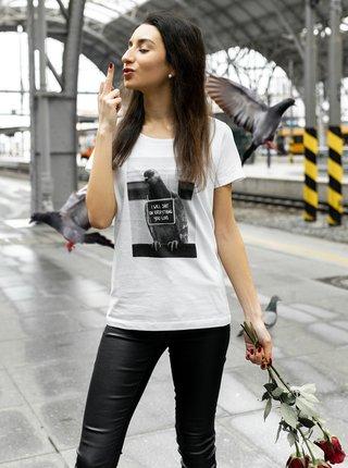 Bílé dámské tričko ZOOT Original Holub