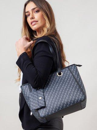 Tmavě modrá vzorovaná kabelka Bessie London
