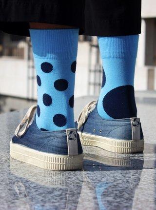 Modré puntíkované ponožky Fusakle Diskos azuro