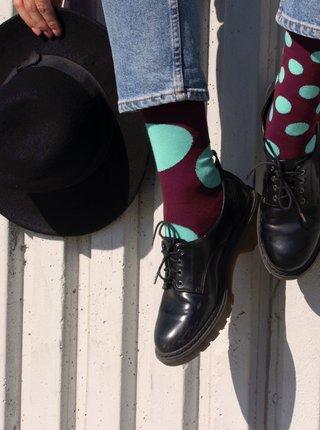 Veselé ponožky Fusakle diskoš bordó