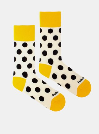 Veselé ponožky Fusakle puntíkáč makový