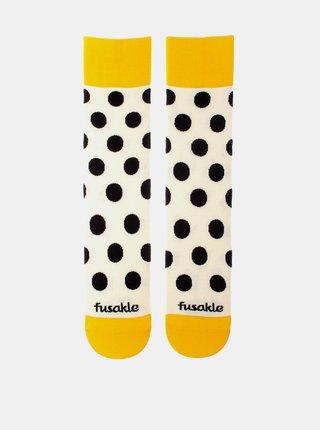 Žluté puntíkované ponožky Fusakle Puntíčkář makový