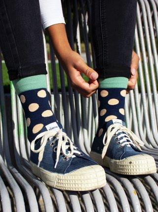 Veselé ponožky Fusakle puntíkáč půlnoční