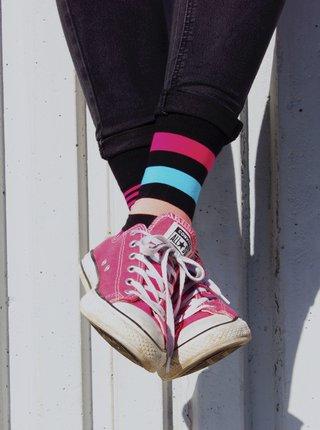 Modro-černé pruhované ponožky Fusakle Extrovert