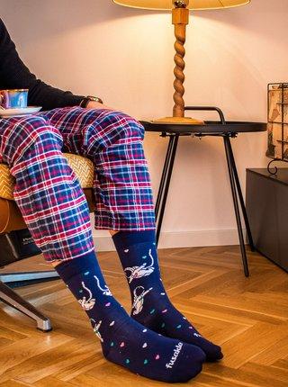 Tmavě modré vzorované ponožky Fusakle Kosmoláska