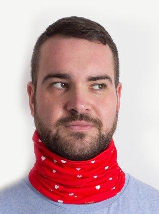 Červený vzorovaný šátek 3v1 Fusakle