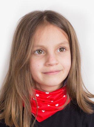 Červená detský vzorovaná šatka 3v1 Fusakle