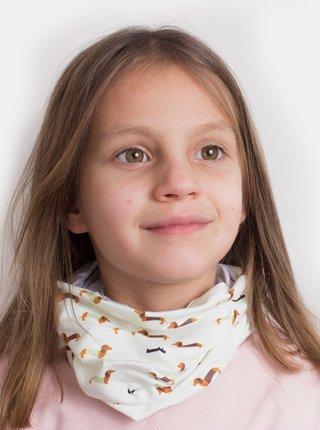 Krémová detský vzorovaná šatka 3v1 Fusakle