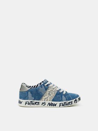 Desigual modré tenisky Shoes Comics Militar