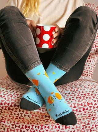 Modré vzorované ponožky Fusakle Šťavnatá láska