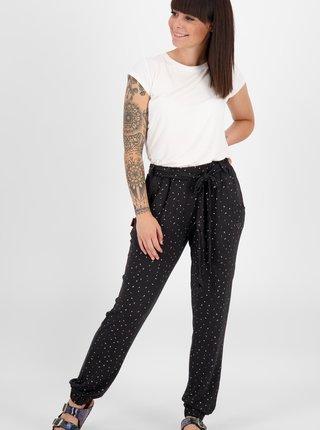 Černé dámské vzorované kalhoty Alife and Kickin