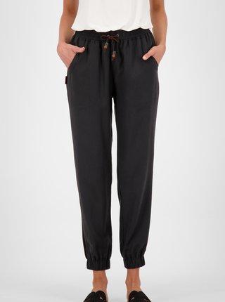 Černé dámské zkrácené kalhoty Alife and Kickin
