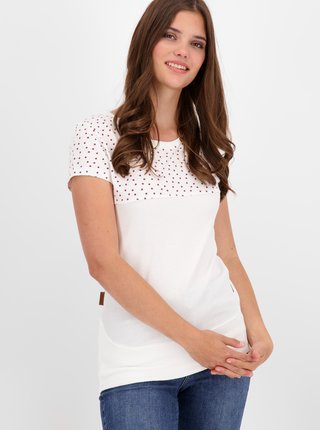 Bílé dámské puntíkované tričko Alife and Kickin