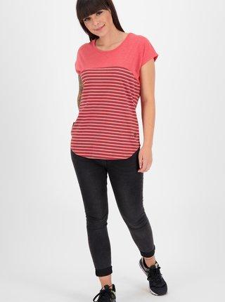 Červené dámské pruhované tričko Alife and Kickin