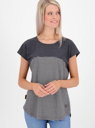 Šedé dámské pruhované tričko Alife and Kickin