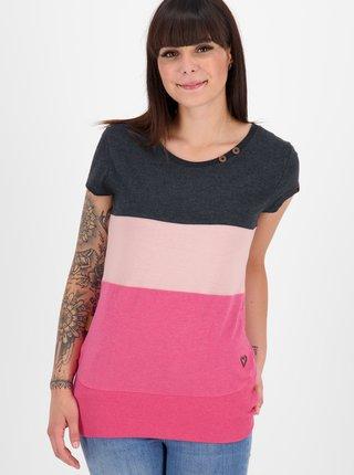 Růžové dámské tričko Alife and Kickin