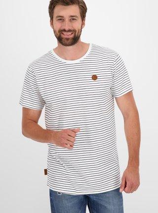 Bílé pánské pruhované tričko Alife and Kickin